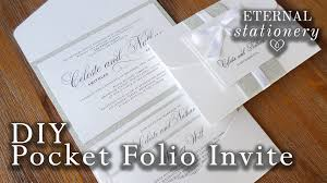diy pocket wedding invitations how to make your own modern pocket folio wedding invitations diy