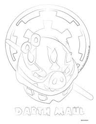 darth maul angry birds coloring pages free coloring