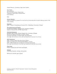 Sample Resume Teenager by Sample Resume For A Highschool Student Free Resume Example And