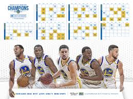 nba chion golden state warriors announce schedule for 2017 18
