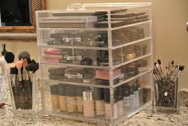 countertop makeup storage home design ideas