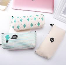pencil cases cactus pencil canvas school supplies kawaii stationery estuches