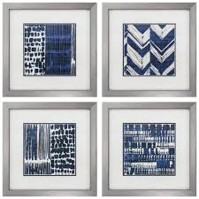 Tousled Bed Sheets Linen Road Written Indigo Batik Framed Graphic Art Set U0026 Reviews Allmodern