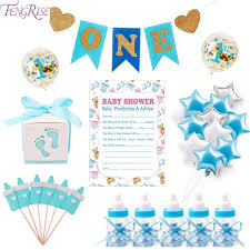 gender reveal baby shower fengrise baby shower balloons gold glitter pink blue its a girl