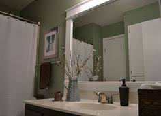 diy bathroom mirror frame ideas bathroom mirror frame this may be a great way to cover the