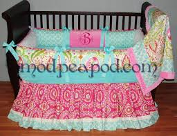 Nursery Bedding Sets For Girl by Braelyn Pink Blue And Green Girl Baby Bedding