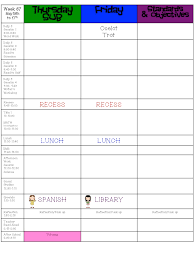learning with mrs langley throwback thursday lesson plan template