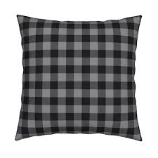Black And White Buffalo Check Curtains Buffalo Plaid Black And Red Kids Cute Nursery Hunting Outdoors