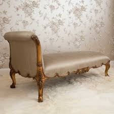 Cream Leather Chaise Furniture Fancy Bedroom Room Decoration Using Natural Color