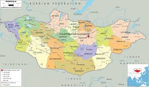 Asia Political Map Detailed Clear Large Map Of Mongolia Ezilon Maps