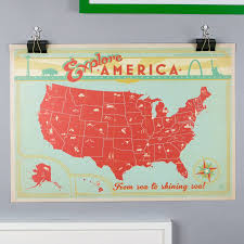 Vintage Map Vintage Map Of The Usa Print By I Heart Travel Art
