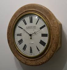 vintage wooden wall vintage wooden wall clock from charvet ainé for sale at pamono