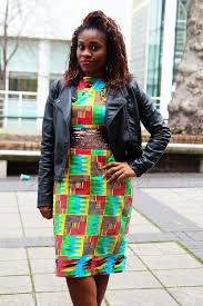 ghana chitenge dresses ghanian kente dress with black biker jacket ghanaian style kente