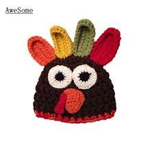 baby thanksgiving hat free shipping chicken baby boy girl hat knit crochet thanksgiving