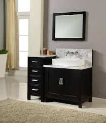 Black Bathroom Vanity With White Marble Top by Bathroom Engaging Ideas For Bathroom Decoration With White Marble