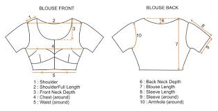 blouse size chart size chart for saree lehenga blouse only blouse