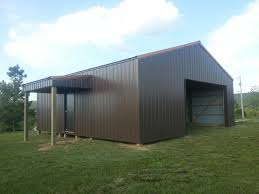 barns designs 30x30x10 with 6x10 shed post frame building www nationalbarn com