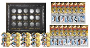 State Series Quarters Collector Map by Baseball Legends 15 Coin Set 24k Gold Plated State Quarters W