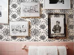 Black And White Wallpaper For Bathrooms - reasons to love retro pink tiled bathrooms hgtv u0027s decorating