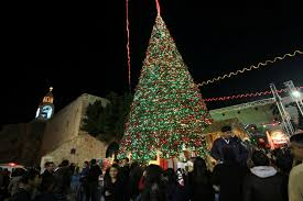 bethlehem lights lighting the tree in