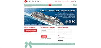 cruise wedding registry 9 websites for compiling your wedding registry wedding album