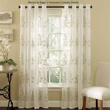 Crate And Barrel Curtain Rods Decor Lombard Embroidered Semi Sheer Grommet Curtain Panels In Curtains