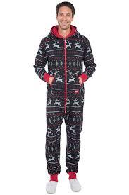 mens black jumpsuit s black and fair isle jumpsuit tipsy elves