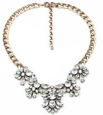 silver flower statement necklace images Jewels fashion necklace diamon statement necklace diamond jpg