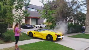 ferrari laferrari crash beverly hills street race l a becoming supercar playground for