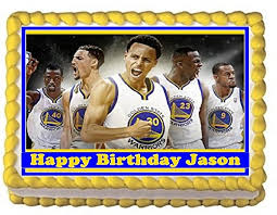 golden state warriors stephen curry personalized edible cake