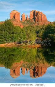 Cathedral Rock Reflections At Sunset Red Rock Crossing Red Rock Crossing Stock Images Royalty Free Images U0026 Vectors