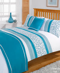 Teal Duvet Cover Duvet Cover With Pillow Case Quilt Bedding Set Bed In A Bag Double