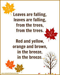 fall song for preschool with free printable lyrics no time for