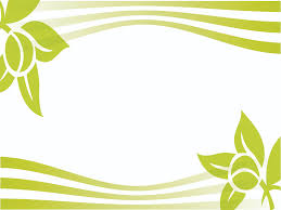greeny ivy flowers border backgrounds for presentation ppt