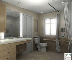 accessible bathroom designs wood cabinets adapted for aarp accessible vanity bath remodeling