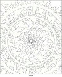 sun and moon mandala coloring pages design pinterest moon