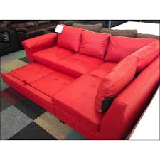Red Leather Chair Fernando Leather Right Hand Sofa Bed Corner Group Red Furnico