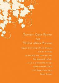 Empty Wedding Invitation Cards Maple Leaf Wedding Invitations Int050 Int050 0 00