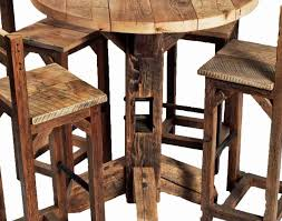 high table with four chairs chair rustic unique round high top table and four chairs with back