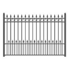 wrought iron decorative garden fencing panels