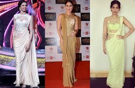 saree draping new styles bollywood celebs trending saree with new styles nadine beauty