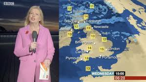 bbc weather viewers concerned for carol kirkwood during forecast