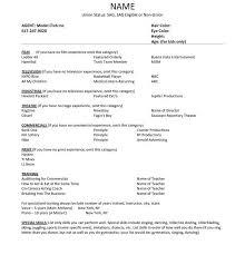 Child Development Resume Inspiring Special Skills Acting Resume List 29 In Resume Templates