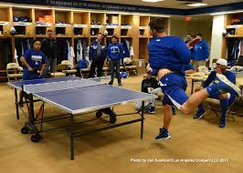 los angeles table tennis club it s on the dodgers annual spring training ping pong tournament