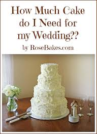 what do i need for a wedding how much cake do i need for my wedding bakes