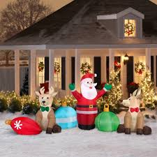 Outdoor Reindeer Christmas Decorations by Gemmy Airblown Inflatables Christmas Inflatable Santa Reindeer