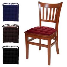 black kitchen chair cushions country pads without ties plus