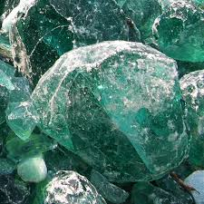 landscaping colored green large glass rocks for garden gabion