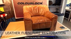 Leather Chair Restoration Leather Furniture Restoration Retaining The Patina Youtube