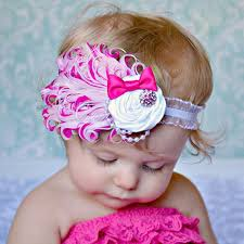 baby girl hair bands 1pcs baby hair band feather flower hair bow band baby girl